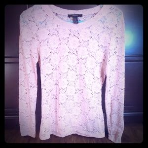 Forever 21 - Pale Pink floral lace long-sleeve